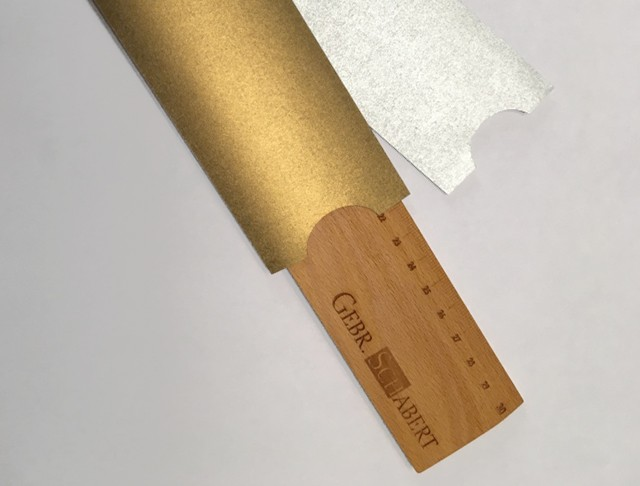 Linealhüllen: Papier, f.color glatt 490 gold / 491 silber
